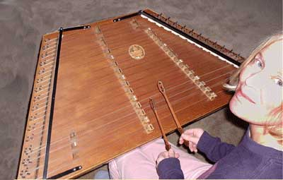 Denise and her dulcimer